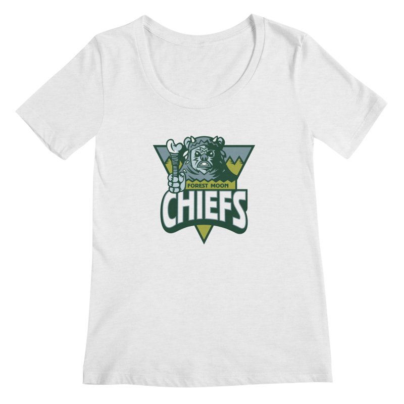 Forest Moon Chiefs Women's Scoopneck by WanderingBert Shirts and stuff