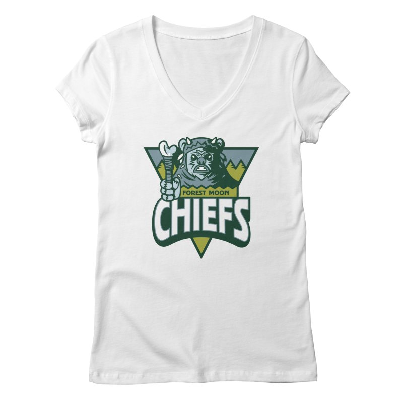 Forest Moon Chiefs Women's V-Neck by WanderingBert Shirts and stuff