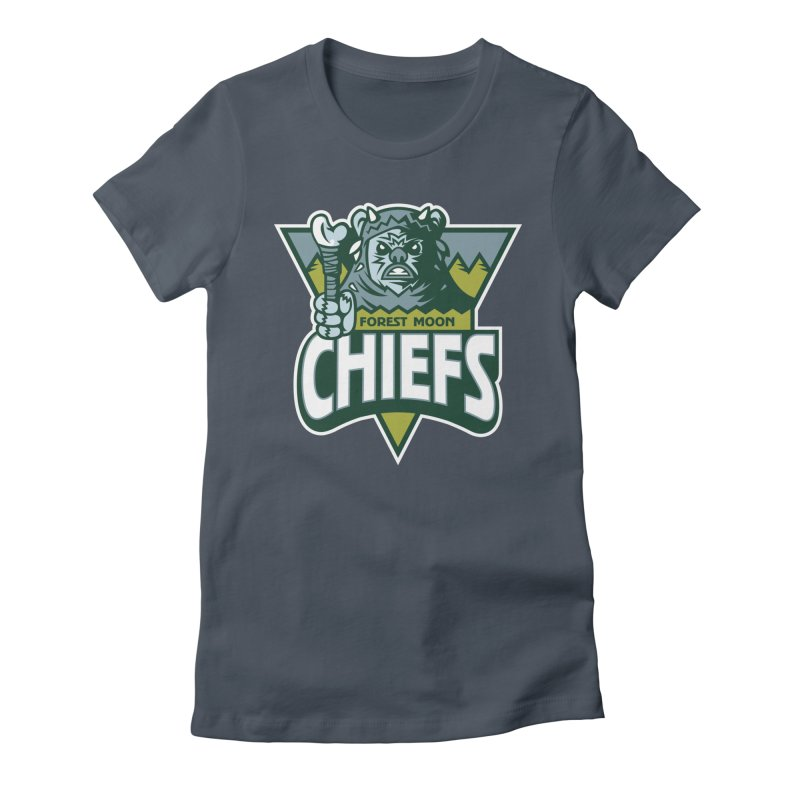 Forest Moon Chiefs Women's Fitted T-Shirt by WanderingBert Shirts and stuff
