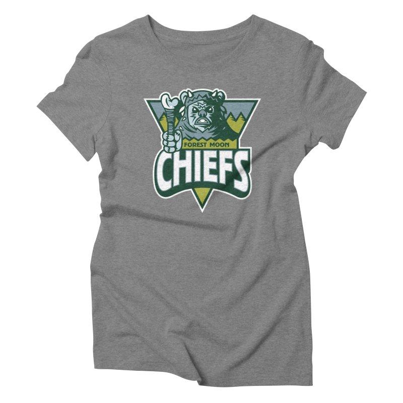 Forest Moon Chiefs Women's Triblend T-Shirt by WanderingBert Shirts and stuff