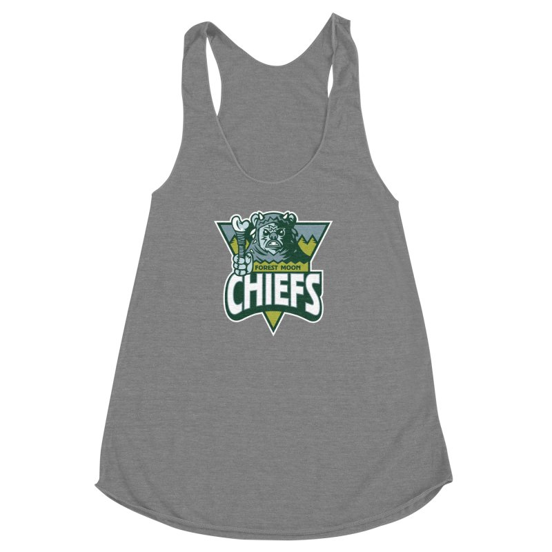 Forest Moon Chiefs Women's Racerback Triblend Tank by WanderingBert Shirts and stuff