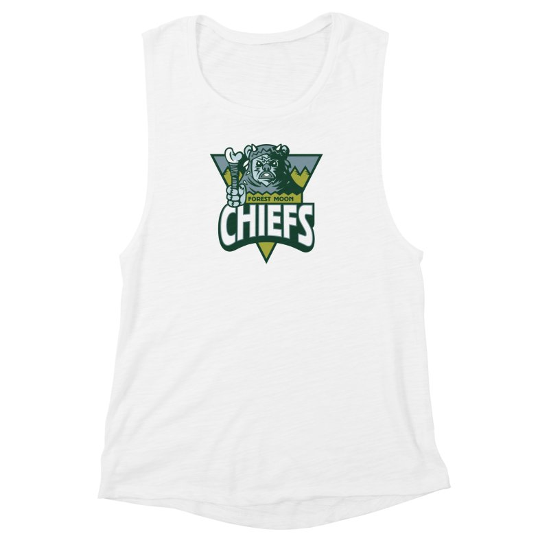 Forest Moon Chiefs Women's Muscle Tank by WanderingBert Shirts and stuff