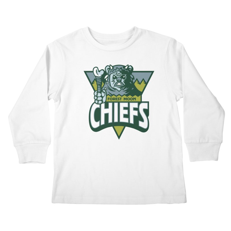 Forest Moon Chiefs Kids Longsleeve T-Shirt by WanderingBert Shirts and stuff
