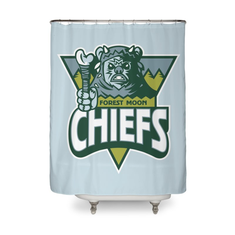 Forest Moon Chiefs Home Shower Curtain by WanderingBert Shirts and stuff