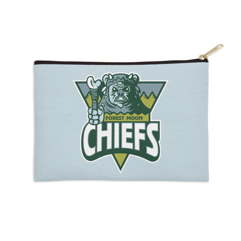Forest Moon Chiefs Accessories Zip Pouch by WanderingBert Shirts and stuff