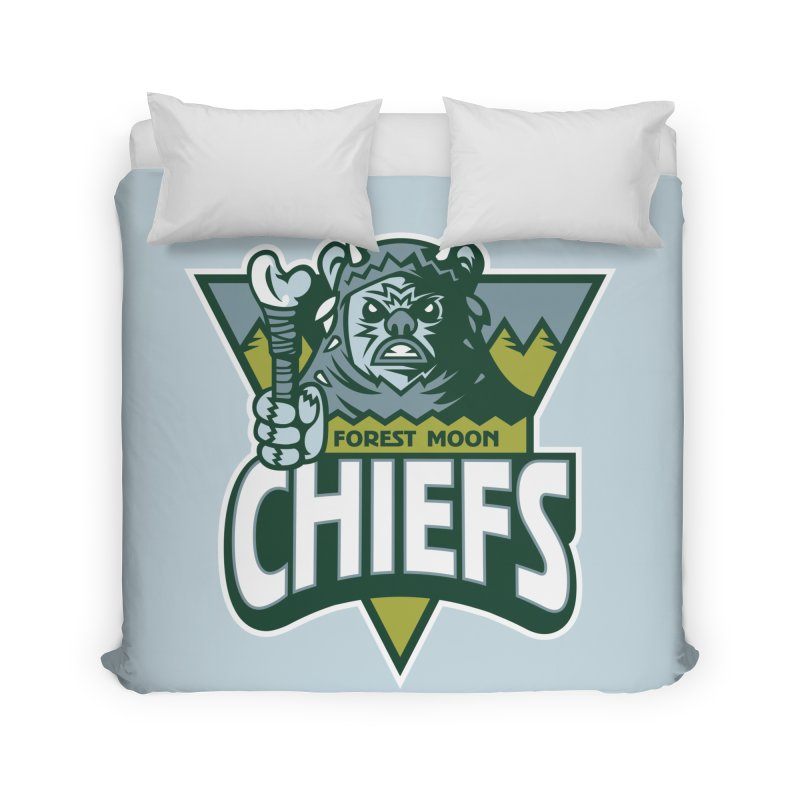 Forest Moon Chiefs Home Duvet by WanderingBert Shirts and stuff