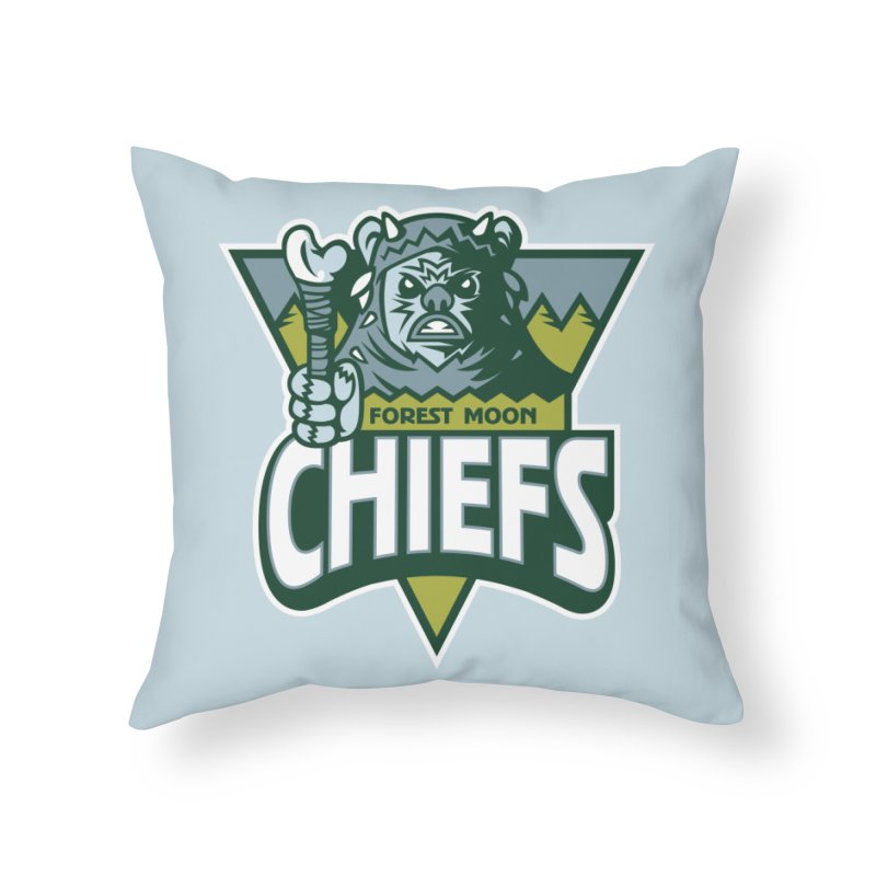 Forest Moon Chiefs Home Throw Pillow by WanderingBert Shirts and stuff