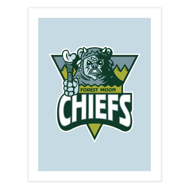 Forest Moon Chiefs Home Fine Art Print by WanderingBert Shirts and stuff
