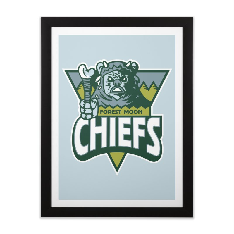 Forest Moon Chiefs Home Framed Fine Art Print by WanderingBert Shirts and stuff