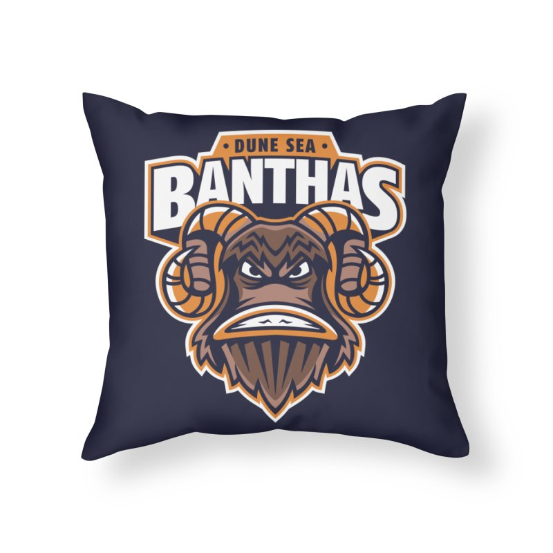 Dune Sea Banthas Home Throw Pillow by WanderingBert Shirts and stuff
