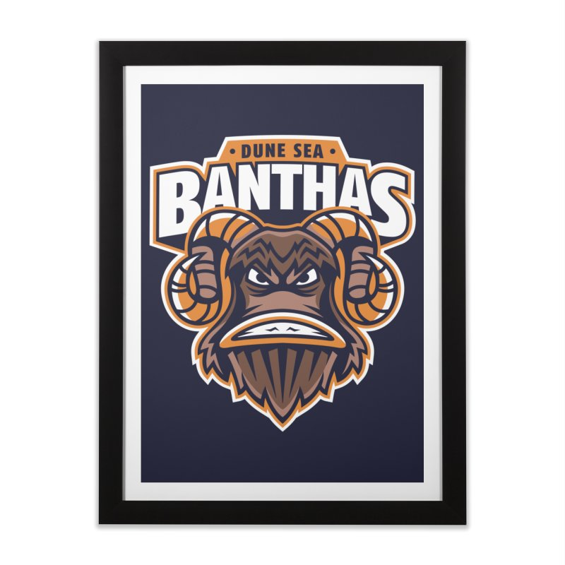 Dune Sea Banthas Home Framed Fine Art Print by WanderingBert Shirts and stuff
