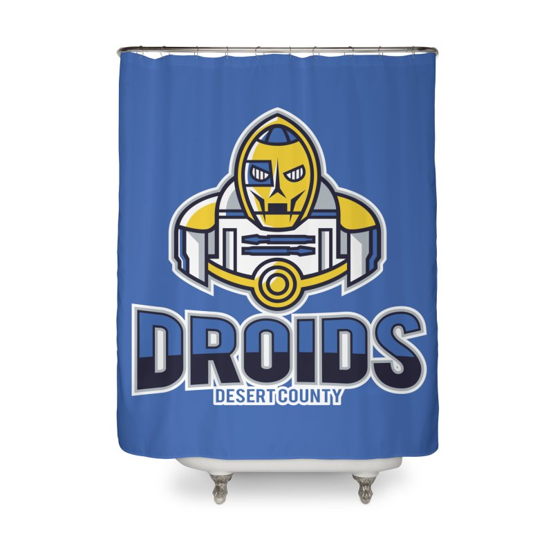 Desert County Droids Home Shower Curtain by WanderingBert Shirts and stuff