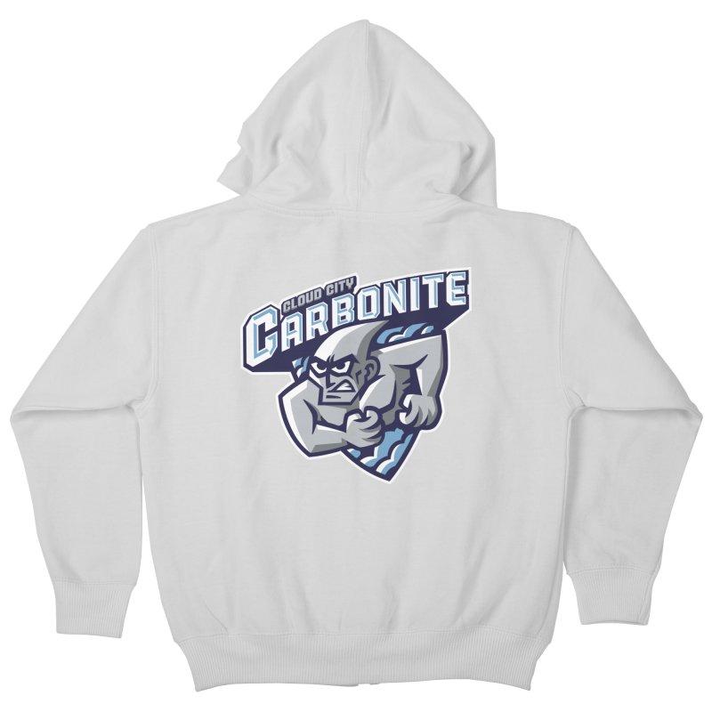 Cloud City Carbonite Kids Zip-Up Hoody by WanderingBert Shirts and stuff