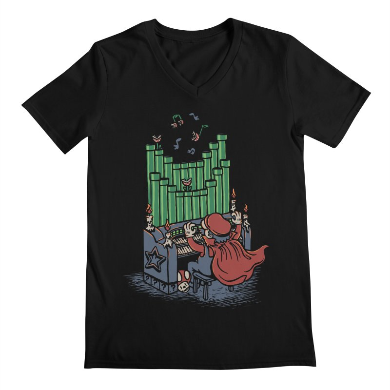 The Plumber of the Opera Men's V-Neck by WanderingBert Shirts and stuff
