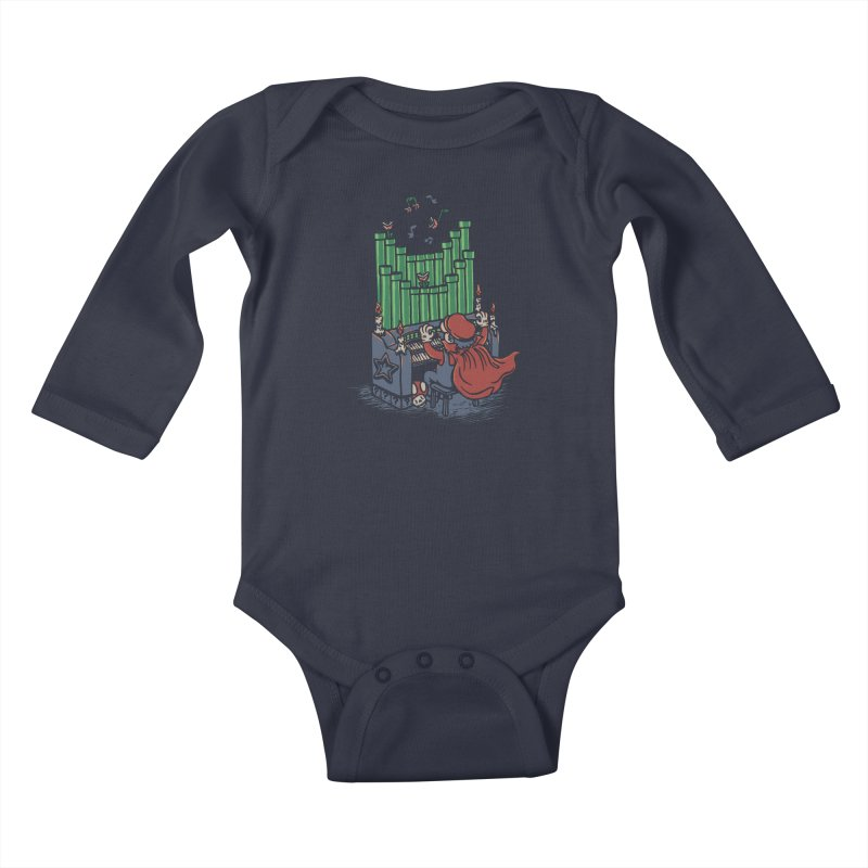 The Plumber of the Opera Kids Baby Longsleeve Bodysuit by WanderingBert Shirts and stuff