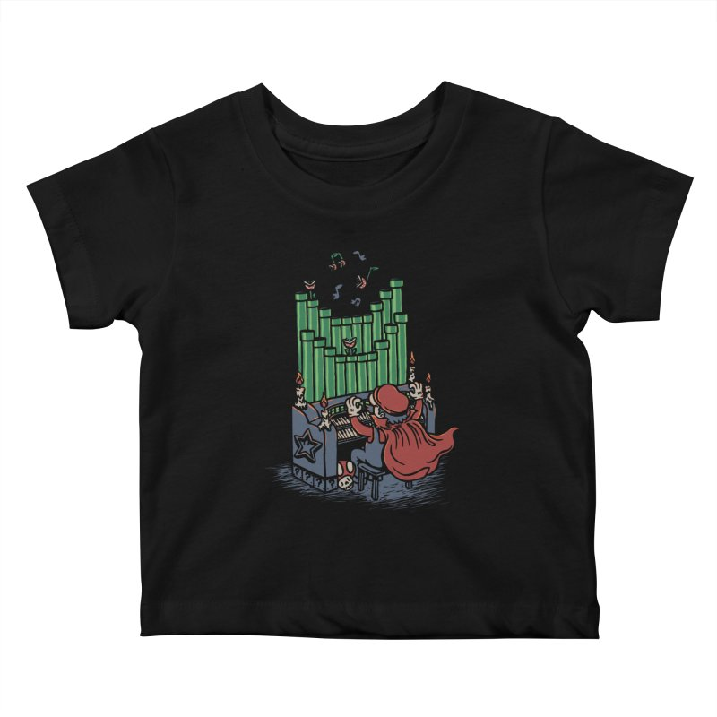 The Plumber of the Opera Kids Baby T-Shirt by WanderingBert Shirts and stuff