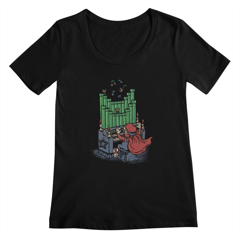 The Plumber of the Opera Women's Scoopneck by WanderingBert Shirts and stuff