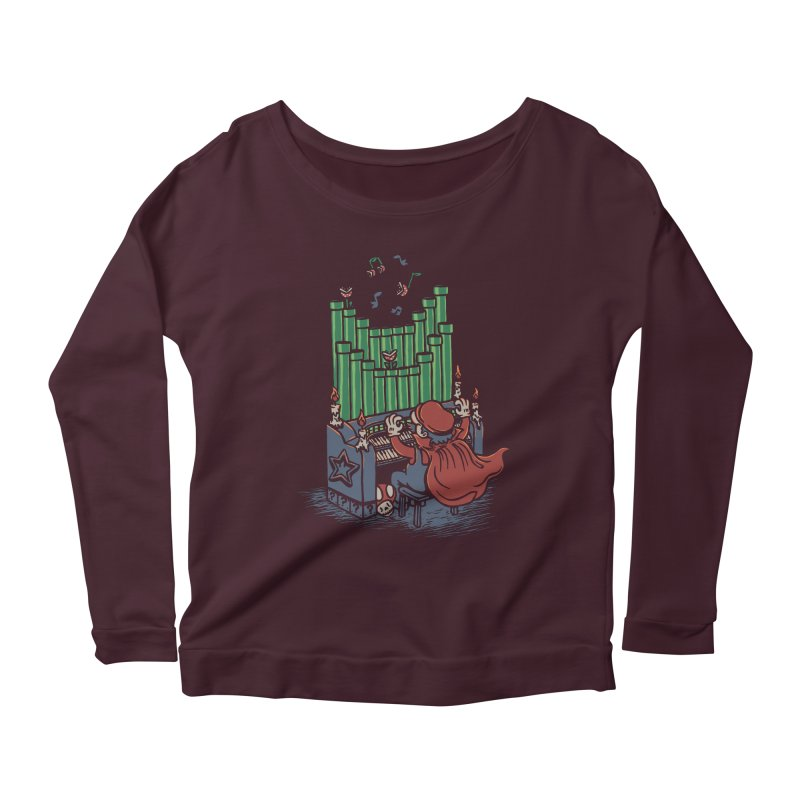 The Plumber of the Opera Women's Longsleeve Scoopneck  by WanderingBert Shirts and stuff