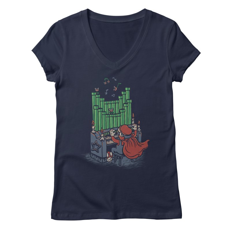 The Plumber of the Opera Women's V-Neck by WanderingBert Shirts and stuff
