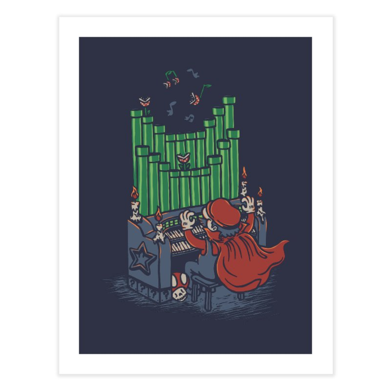 The Plumber of the Opera Home Fine Art Print by WanderingBert Shirts and stuff