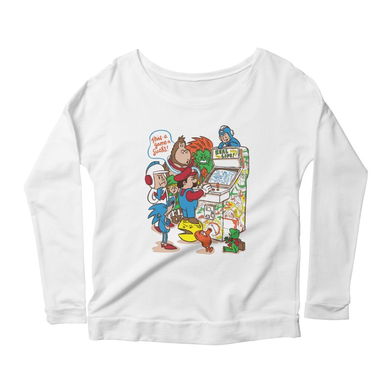 This Game Sucks Women's Longsleeve Scoopneck  by WanderingBert Shirts and stuff
