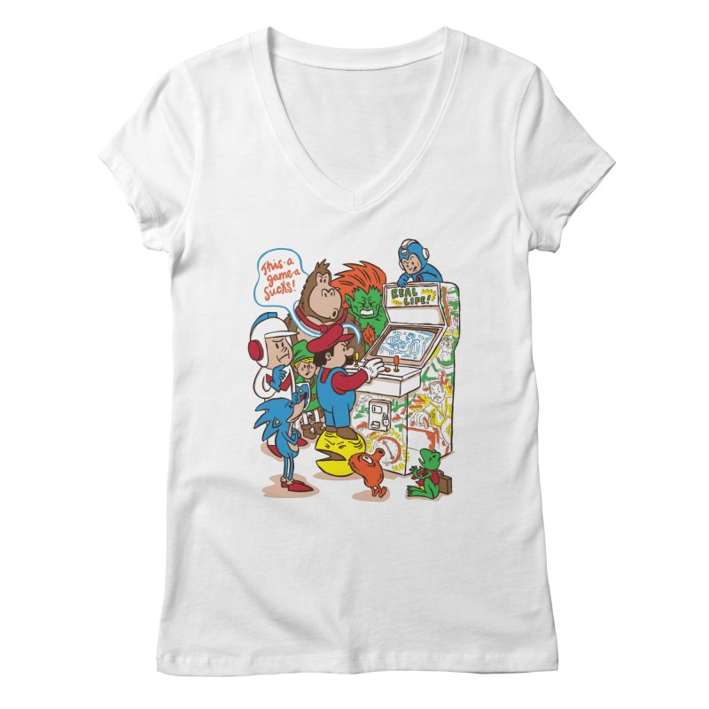 This Game Sucks Women's V-Neck by WanderingBert Shirts and stuff