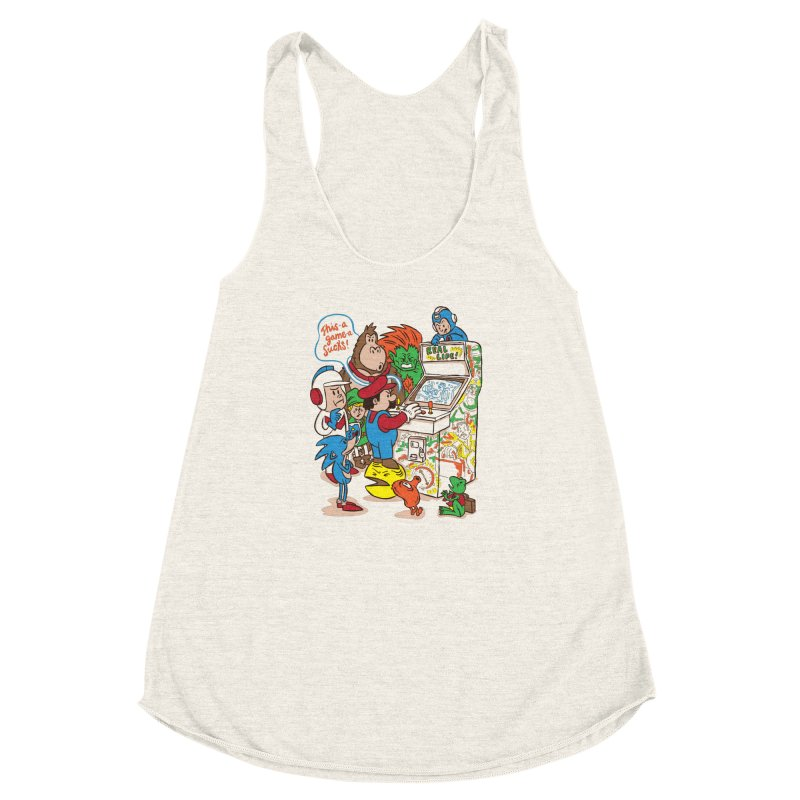 This Game Sucks Women's Racerback Triblend Tank by WanderingBert Shirts and stuff