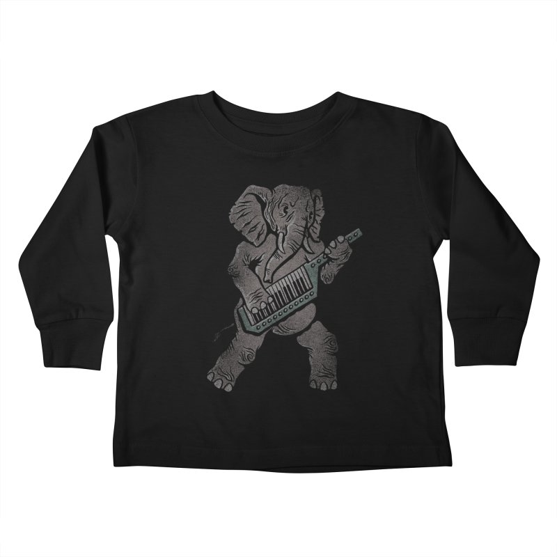 Trunk Rock Kids Toddler Longsleeve T-Shirt by WanderingBert Shirts and stuff