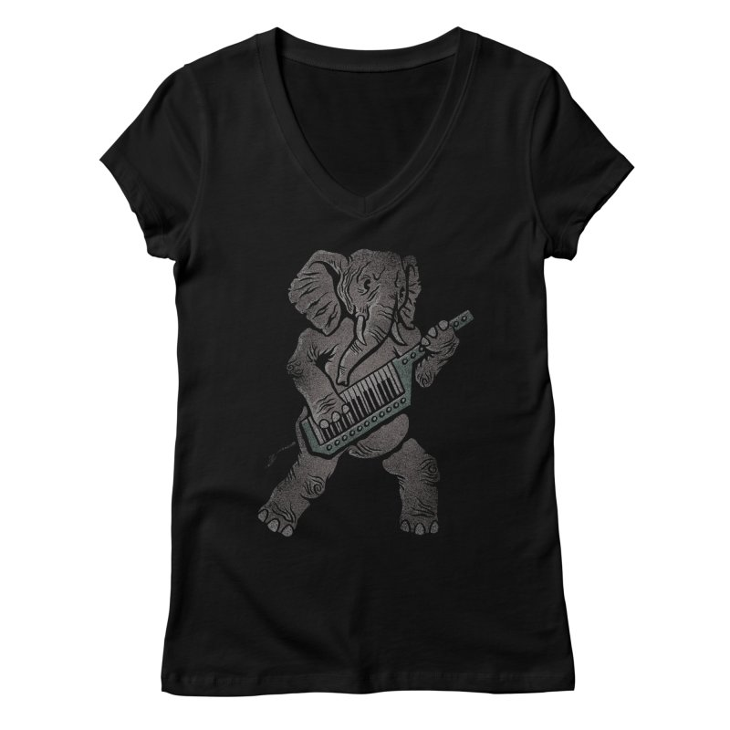 Trunk Rock Women's V-Neck by WanderingBert Shirts and stuff