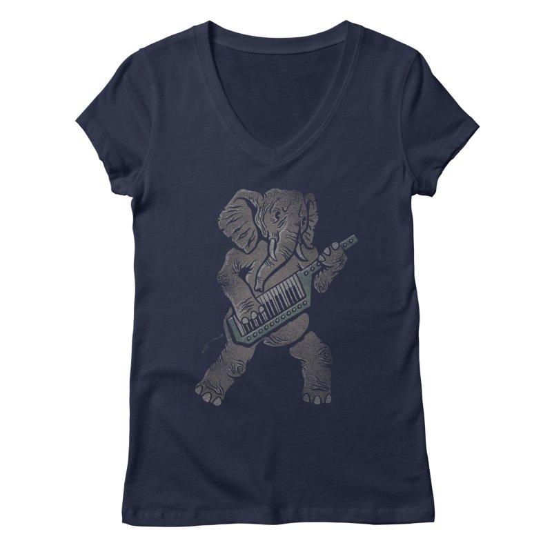 Trunk Rock Women's V-Neck by WanderingBert Shirts and stuff