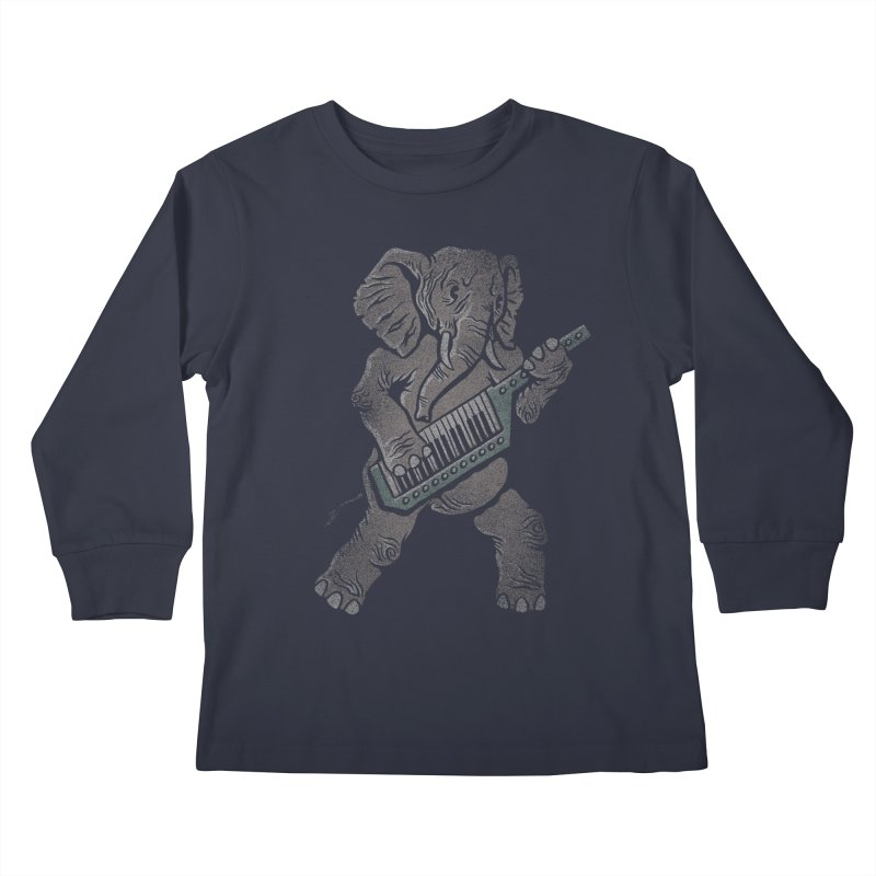 Trunk Rock Kids Longsleeve T-Shirt by WanderingBert Shirts and stuff