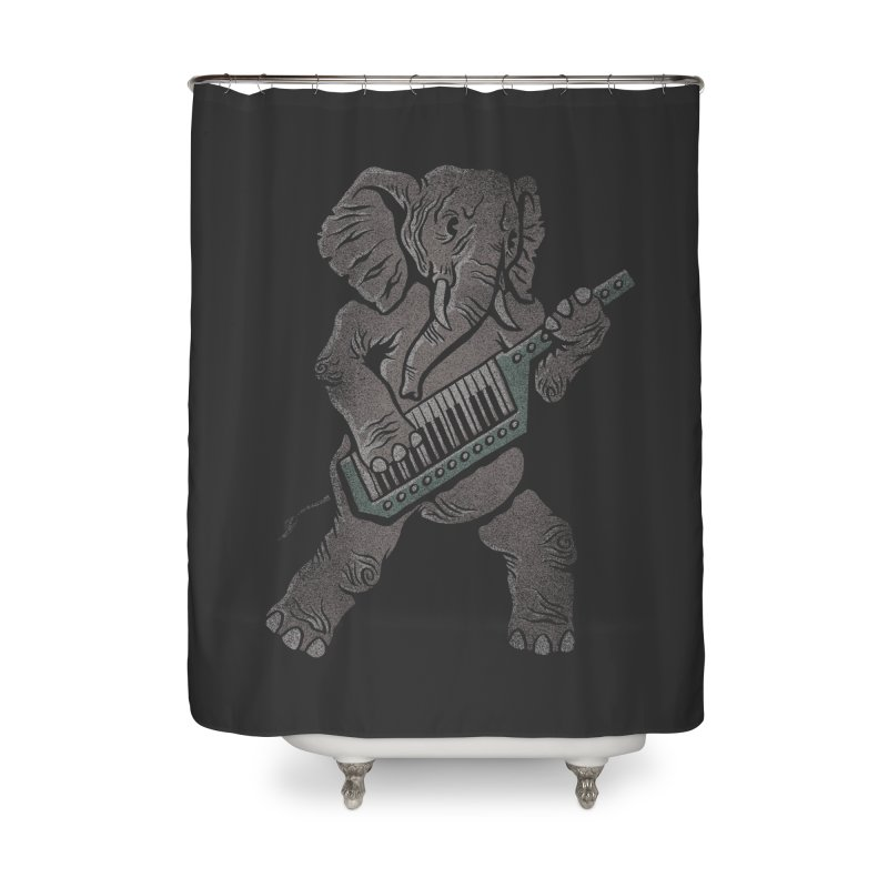 Trunk Rock Home Shower Curtain by WanderingBert Shirts and stuff