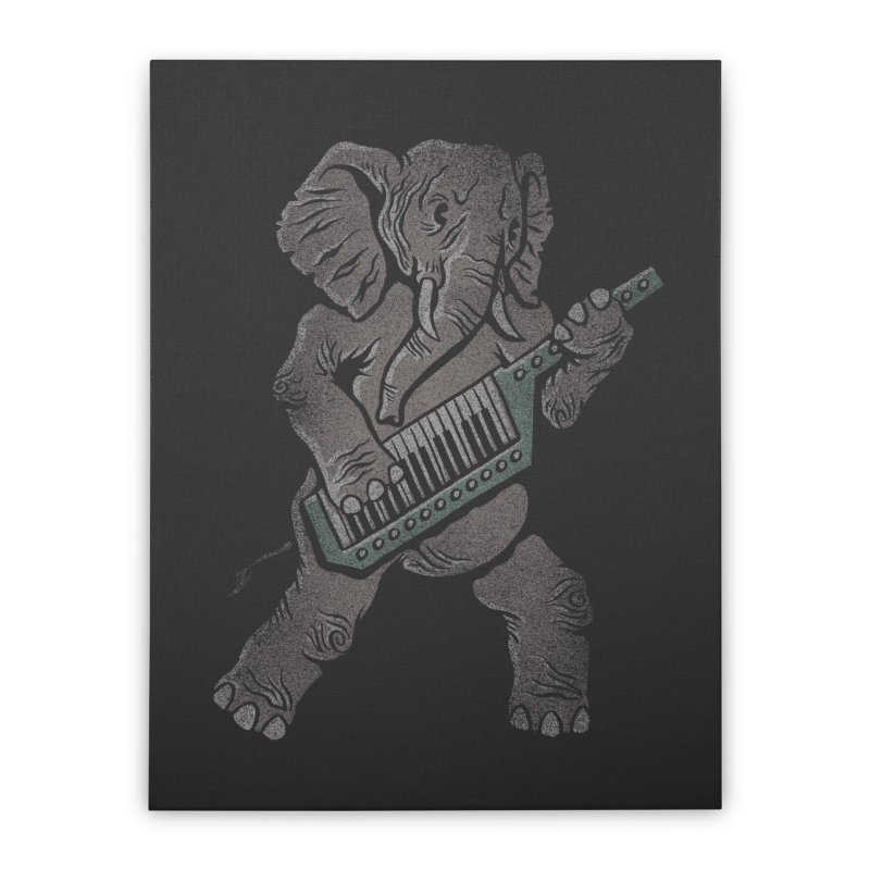 Trunk Rock Home Stretched Canvas by WanderingBert Shirts and stuff