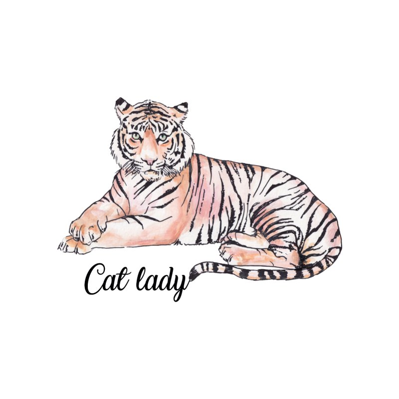 Cat Lady Tiger Illustration by Wandering Laur's Artist Shop