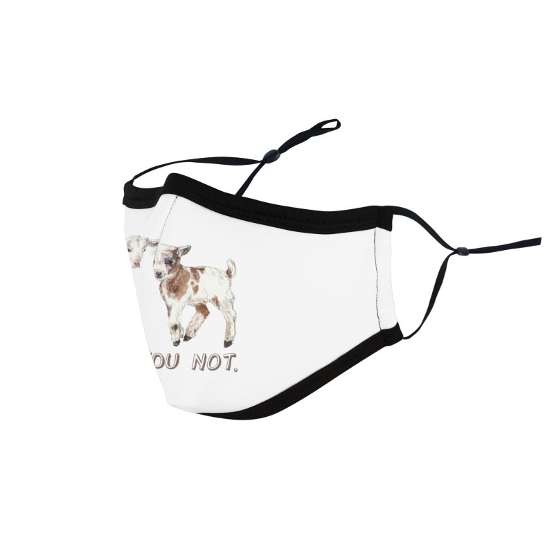 I Kid You Not baby goat watercolor farm animal illustration Accessories Face Mask by Wandering Laur's Artist Shop