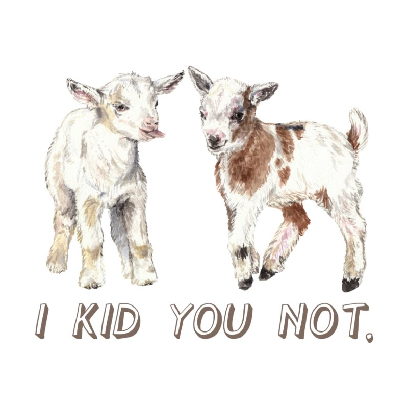 I Kid You Not baby goat watercolor farm animal illustration Home Fine Art Print by Wandering Laur's Artist Shop