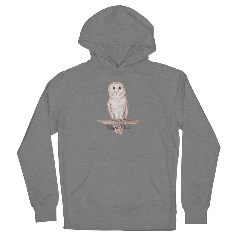 Night Owl Barn Owl Watercolor Women's Pullover Hoody by Wandering Laur's Artist Shop