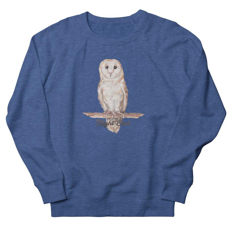 Night Owl Barn Owl Watercolor Men's Sweatshirt by Wandering Laur's Artist Shop