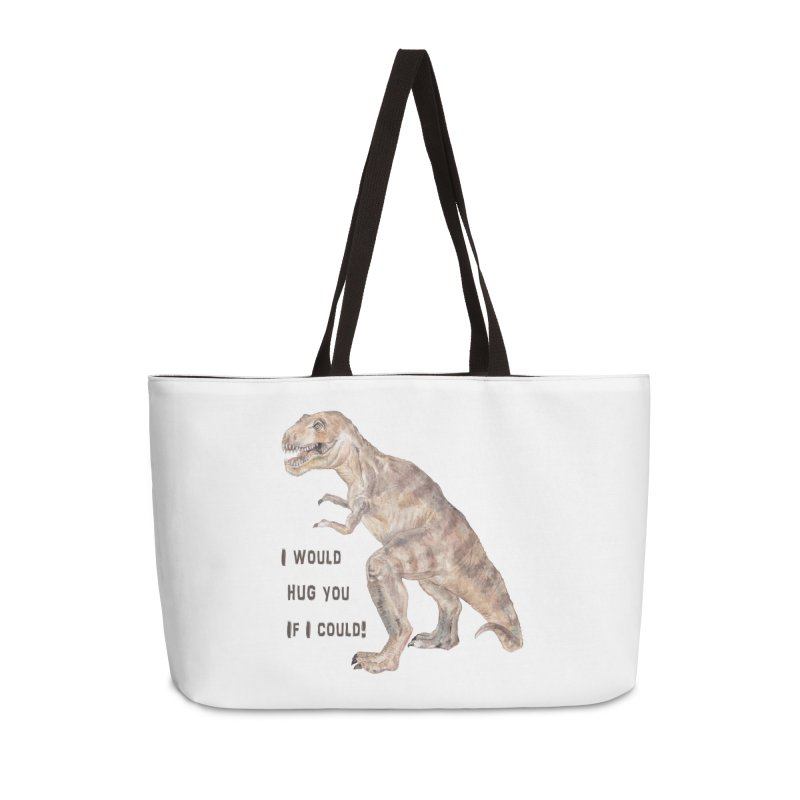 T Rex Dinosaur I Would Hug You If I Could Accessories Bag by Wandering Laur's Artist Shop