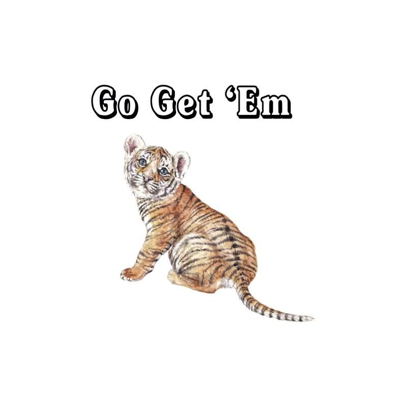 Go Get Em Tiger Watercolor Illustration Men's T-Shirt by Wandering Laur's Artist Shop