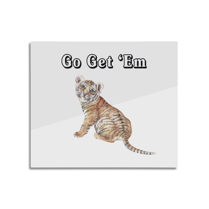 Go Get Em Tiger Watercolor Illustration Home Mounted Acrylic Print by Wandering Laur's Artist Shop