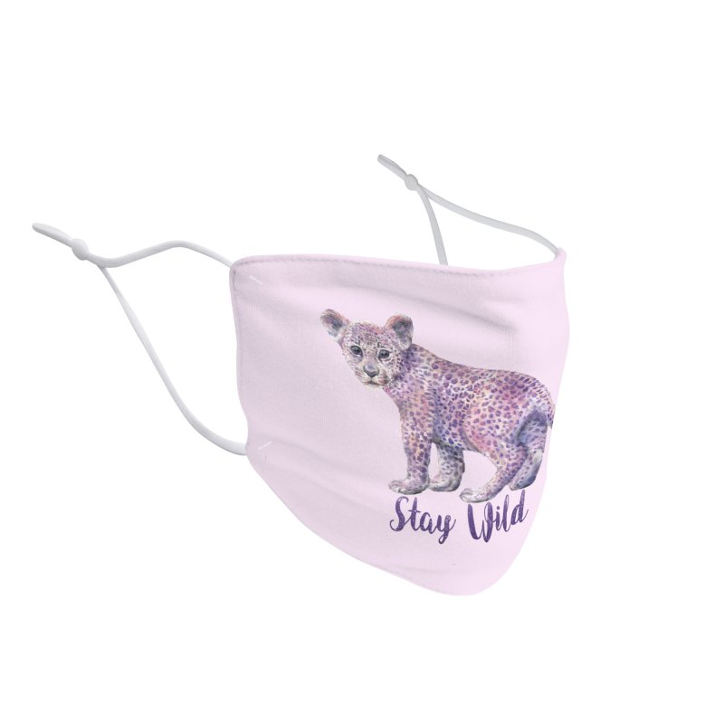 Stay Wild Leopard Cub Accessories Face Mask by Wandering Laur's Artist Shop