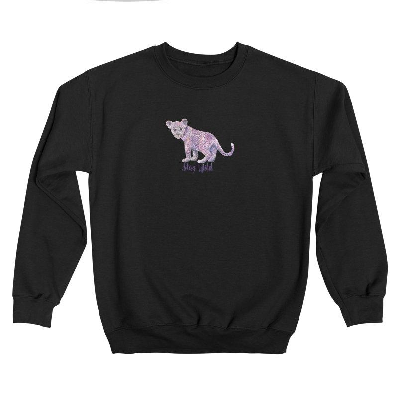 Stay Wild Leopard Cub Women's Sweatshirt by Wandering Laur's Artist Shop