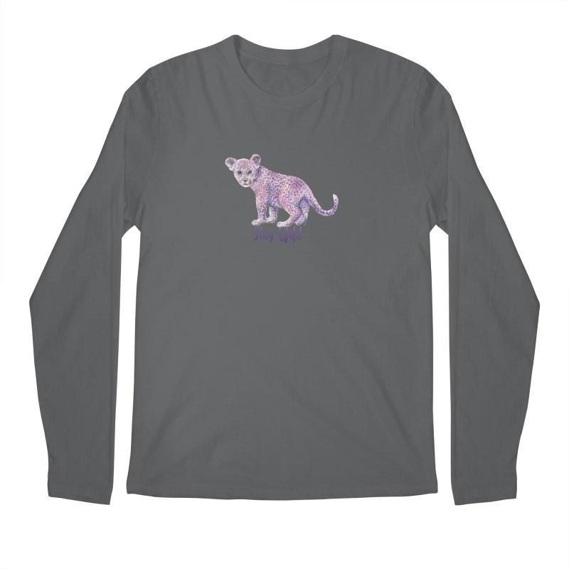 Stay Wild Leopard Cub Men's Longsleeve T-Shirt by Wandering Laur's Artist Shop