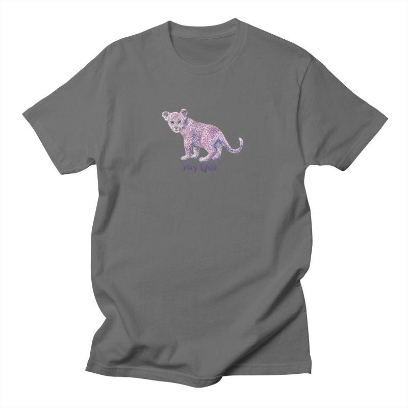 Stay Wild Leopard Cub Men's T-Shirt by Wandering Laur's Artist Shop