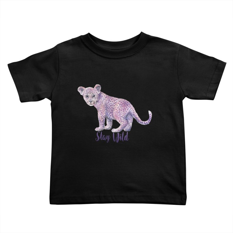 Stay Wild Leopard Cub Kids Toddler T-Shirt by Wandering Laur's Artist Shop