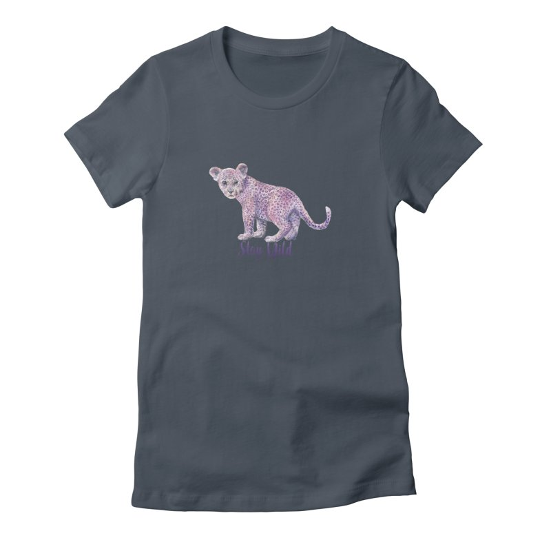 Stay Wild Leopard Cub Women's T-Shirt by Wandering Laur's Artist Shop