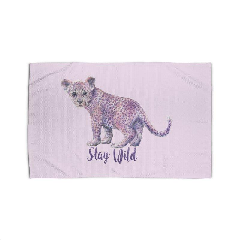Stay Wild Leopard Cub Home Rug by Wandering Laur's Artist Shop