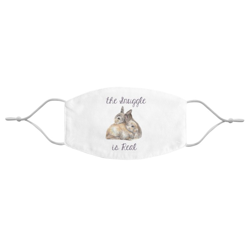 The Snuggle Is Real Bunnies Accessories Face Mask by Wandering Laur's Artist Shop