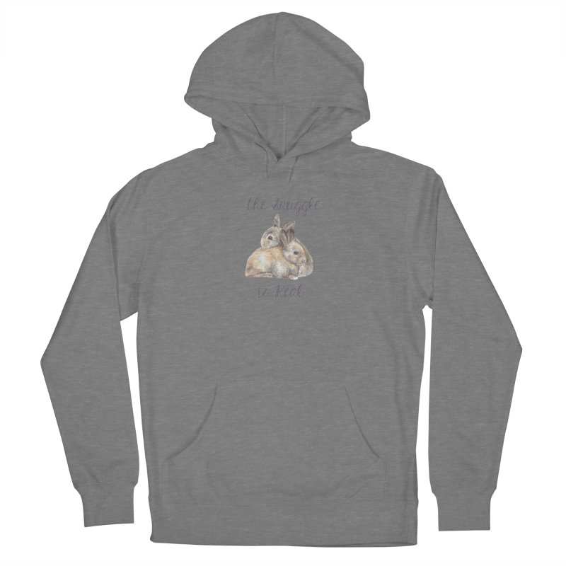 The Snuggle Is Real Bunnies Women's Pullover Hoody by Wandering Laur's Artist Shop